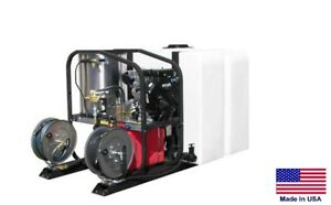 Pressure Washer Commercial Hot Cold Steam 5 Gpm 3000 Psi Vanguard Skid