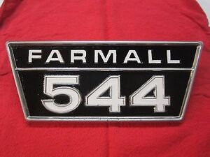 Original Ih Farmall 544 Tractor Ihc Side Panel Emblem 2753969r1