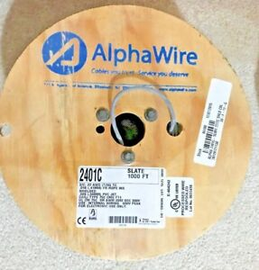 Alpha Wire 2401c Sl001 Shld Multicond Cable 22awg 1000ft 300v