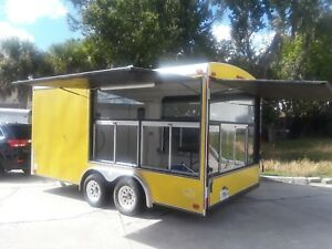 8 X 16 Concession Trailer Food Truck A c Triple Sink Motorcycle Cargo Camping