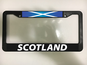 Scotland Scottish Uk Edinburgh Glasgow Scots Black License Plate Frame New