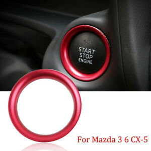 Red Engine Start Stop Button Ring Cover Decor Trim For 2014 Mazda 3 6 Cx 5