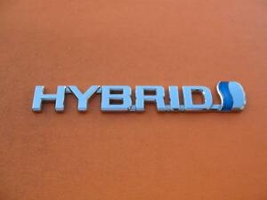 04 05 06 Toyota Prius Hybrid Left Lh Fender Chrome Emblem Logo Badge Sign Oem 5