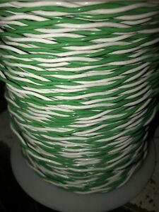 Twisted Pair 16 Gauge Teflon Stranded Mil Type E Wire Green White Usa Made