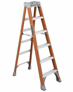 Louisville Ladder 6 foot Fiberglass Ladder 300 pound capacity Type 1a Fs1506