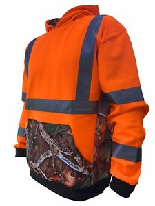 Safetyshirtz Ss360 Deepwoods Camo Safety Hoody Ansi Class 3 2xl