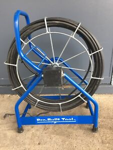Pro Built Tools Sewer Inspection Camera Cable 100 3 8 Powder Coated Frame