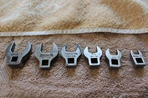 Snap On 3 8 Dr Lg Crows Foot Wrench Set 6pc 3 8 Thru 1