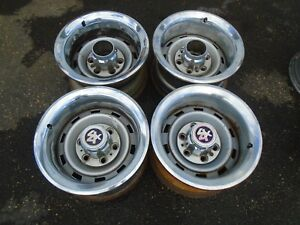 Chevy Truck K5 Blazer 15 Rally Wheel Rims With Trim Rings 6 Lug Set Of 4 Oem