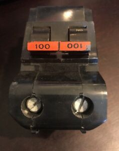 100 Amp Federal Pacific Stab lok Fpe 2 pole Circuit Breaker