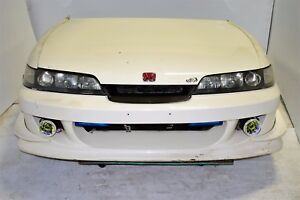 Jdm Dc2 Integra Type R Front End Conversion Fbr Bumper Carbon Fiber Grill Hid
