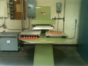 Sale Used Visual Thermoforming 2 station Blister Sealer Emd 2 208v iph 19 Amps