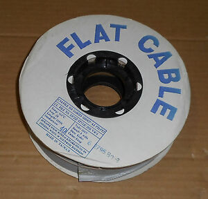 Flat Wire Cable Length 100ft Awg 28 Conductors 40 Volts 300 Temp 105c