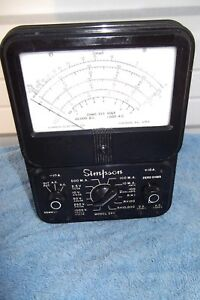 Vintage Simpson 260 Series Volt Ohm Meter Multimeter