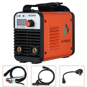 Hitbox At2000 Arc Stick Welding Machine 110 220v Dual Volt Portable Arc Welder