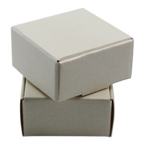 White Foldable Kraft Paper Box Wedding Favor Party Gift Candy Jewelry Small Pack