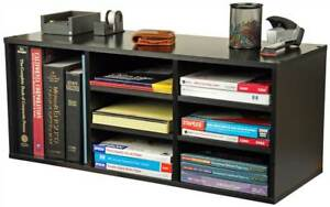 Desktop Organizer W 6 Adjustable Shelves In Black Finish id 26053