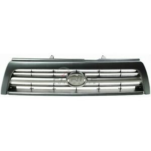 Grille Silver Gray 4 cylinder Engine For 1996 1998 Toyota 4runner To1200203