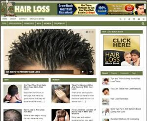 Hairloss Ready Made Blog Established Profitable Turnkey Website For Sale