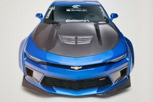Dritech Grid Hood 1 Piece Fits Chevrolet Camaro 16 20 Carbon Creations