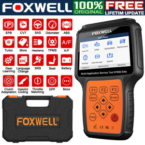 Automotive Scanner Multi System Diagnostic Tool Abs Srs Injector Foxwell Nt650