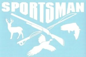 Sportsman Hunting Fishing Vinyl Sticker Decal Car Truck Suv