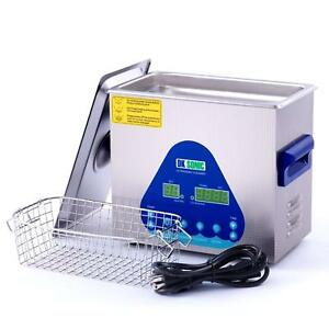 3l Digital Ultrasonic Cleaner Basket Heated Jewelry Cleaning Stainless Steel