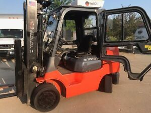 2012 Toyota 8000 Pound Lpg propane Forklift cab a c heat we Will Ship
