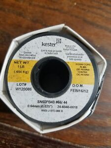 Kester 24 6040 0018 1 pound 44 Activated Rosin Cored Wire Solder Roll Sn60 Pb40