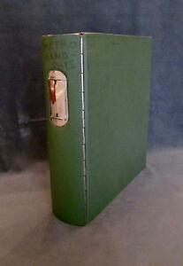 Vintage Industrial Grade 3 Ring Binder With Piano Hinge Rounded Spine Sturdy
