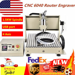 Usb 6040 Cnc Router 4axis Engraver Engraving Milling Drilling Machine 1 5kw Cut