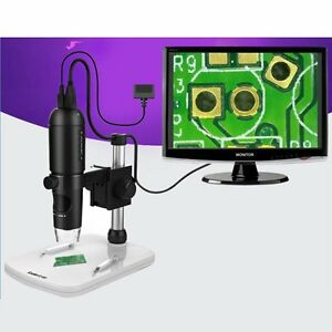 1080p Full Hd Digital Microscope Hdmi In 10x 220x Microscope To Pc Monitor Tv