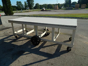 Industrial Steel Utility Work Table Cart 9 X 4