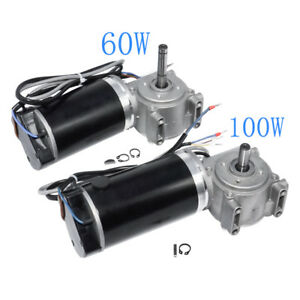 Dc24v Automatic Door Motor 60w 100w Brushed Dc Worm Gear Motor With Encoder