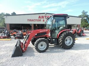 2018 Mahindra 3550 Cab Tractor With Loader 4wd Enclosed Cab Demo Tractor