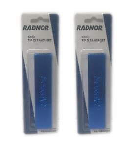 Radnor 2 Pack King Tip Cleaner Sets 13 Files Each Tapered Tangle Free