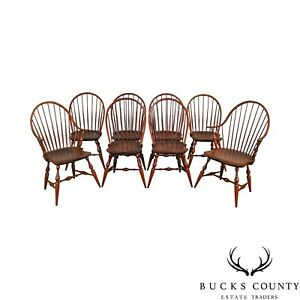 Warren Chair Works Custom Crafted Set Of 8 Windsor Dining Chairs