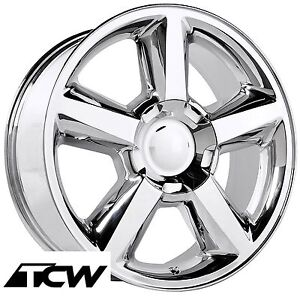 4 20 Inch Chevy Tahoe Ltz 2007 Oe Replica Chrome Wheels Rims For Tahoe 00 17