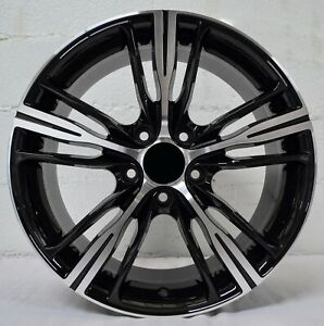 Set Of 4 Wheels 18 Inch Gloss Black Machined Rims Et30 Fits Ford Mustang