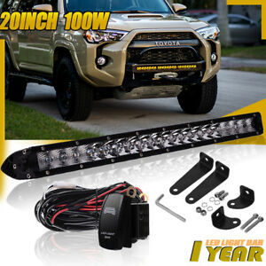20inch 100w Led Work Light Bar Combo Offroad Toyota Gmc Suv Atv Jeep 21 22