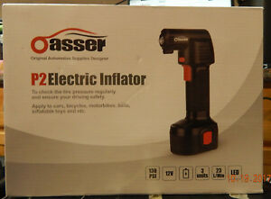 Oasser Air Compressor Electric Inflator Portable Hand Held Pump With Digital Lcd