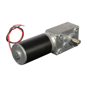 Dc12v 160rpm Worm Gear Motor Single Double Shaft Right Angle Gearmotor 40gz595