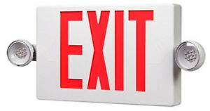 Led 2 Light Exit Emergency Sign Apch7r Cooper Lighting New