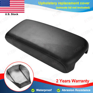 Fits 09 14 Nissan Maxima Black Synthetic Leather Console Lid Armrest Cover Skin