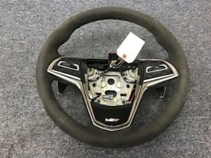 16 17 18 Cadillac Cts v Cts Leather Suede Steering Wheel Oem Gm Heated 23316245