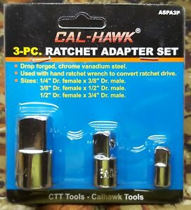 3 Piece Ratchet Adapter Set Drop Forge Steel 1 4 To 3 8 3 8 To 1 2 1 2 To 3 4