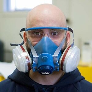 Breath Buddy Respirator Mask plus Safety Glasses Reusable Professional Breath