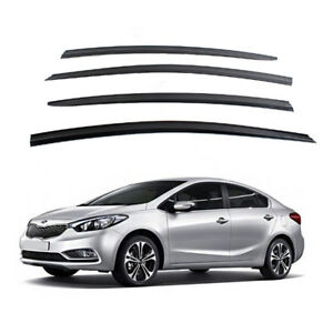 Smoke Window Sun Vent Visor Rain Guards 4pcs For Kia Forte K3 4door 2013 2017