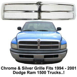 Replacement Grill For 1994 1995 1996 1997 1998 1999 2000 2001 Dodge Ram 1500