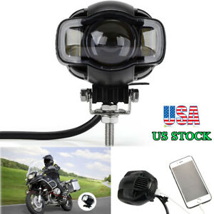 20w Motorcycle Led Driving Fog Lamp Auxiliary Spot Light Usb Charger Waterproof